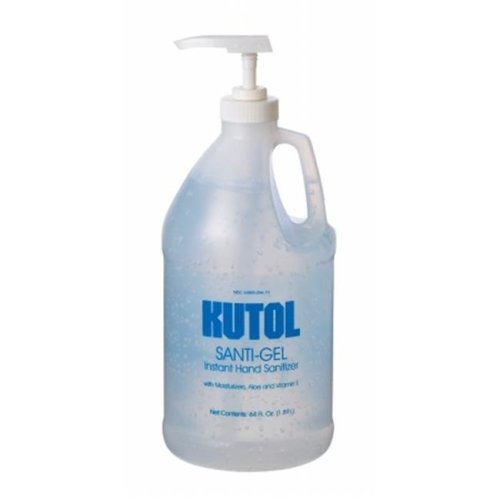 Kutol Products 1329968 Instant Gel Hand Sanitizer, 64 oz Pump, Clear - Pack of 4