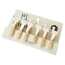 Creative Natural Wooden Lovely Photo Paper Peg Pin Craft Clips with 52CM Jute Twine, NO.13