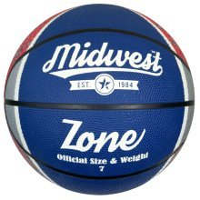 Size 7 Blue White Red Midwest Zone Basketball -  basketball midwest zone 7 blue white red size bluewhitered 5