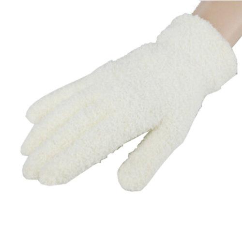 Women's/Girls Winter Warm Finger Plush Gloves,1 Pair,white
