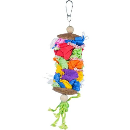 Prevue Pet Products 62518 Medium Laundry Day Bird Toy, Assorted Color - Pack of 72