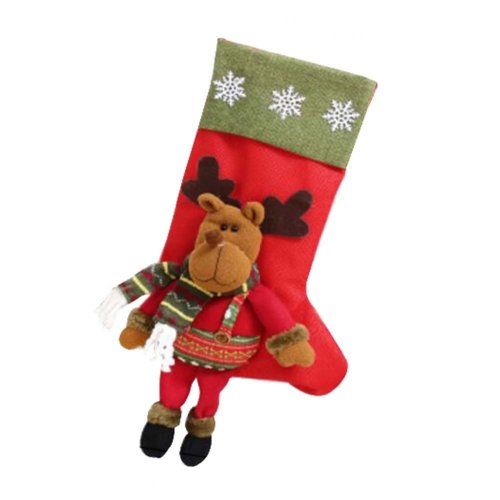 Set of 2 Colorful Christmas Stockings Christmas Gift Bag,Santa Claus Pattern