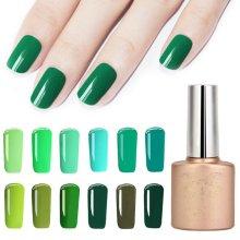 12 Colors Spring Gorgeous Green Series Nano UV Gel Polish Soak-off Nail Art 12ml