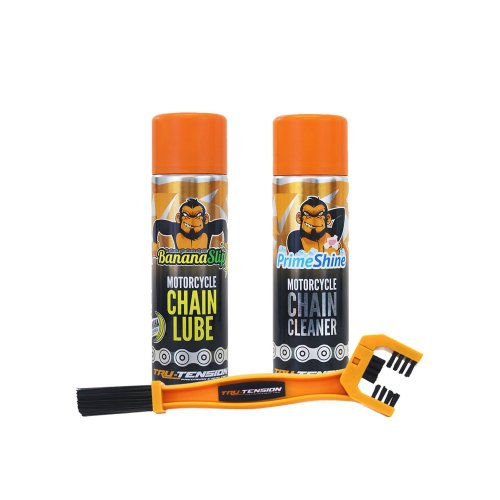 Tru-Tension Clean bundle - Chain Lube, Cleaner and Brush