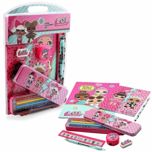 LOL Surprise! Large Stationery Kit for Girls LOL Dolls Series 1 Limited Edition School Set for Girl