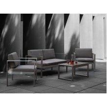 Garden Sofa Set 4 Seater - Grey SALERNO