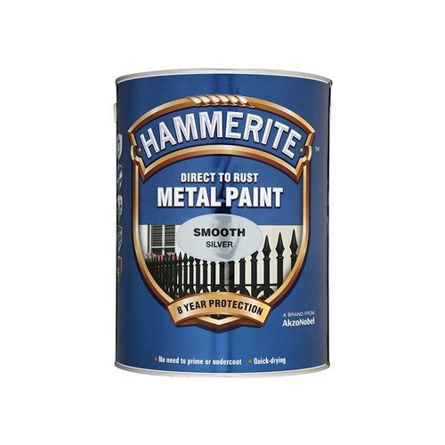 Hammerite SFB25L Direct to Rust Smooth Finish Metal Paint Black 2.5 Litre