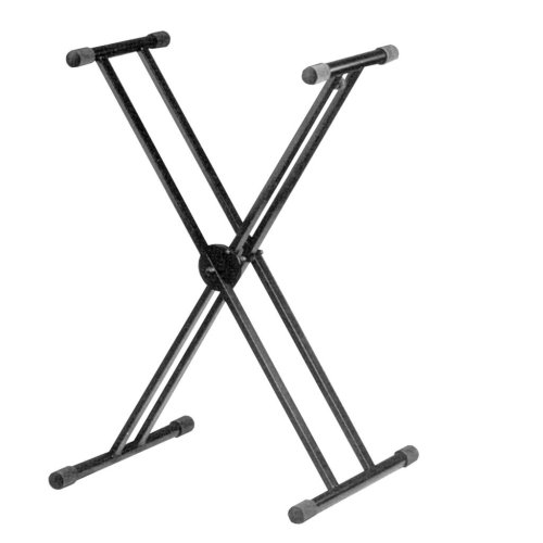 Height Adjustable Twin X Frame Keyboard Stand with Quick Release