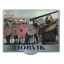 York Jorvik Viking Warriors Fridge Magnet Souvenir Gift Yorkshire Foil Stamped