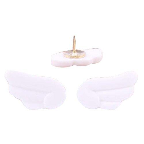 6 Pcs Creative Pushpin Push Pin Thumbtack Office Supplies, White wings