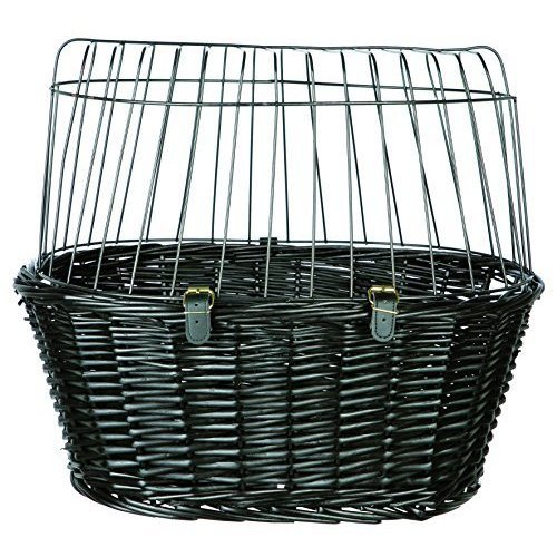Trixie 2818 Bicycle Basket With Grille 50 × 41 × 35cm - 35cm Black Front Dog -  trixie 2818 bicycle basket 50 41 35 cm grille black front dog