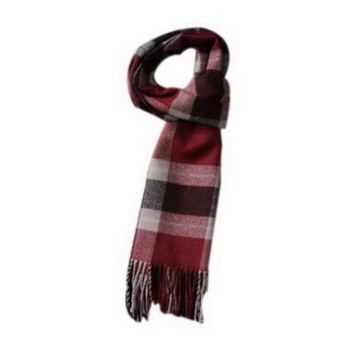 38642401d Fashion Classic Couple Scarf Wine Red Gray Plaid Style Warm Scarf Gift For  Lover on OnBuy