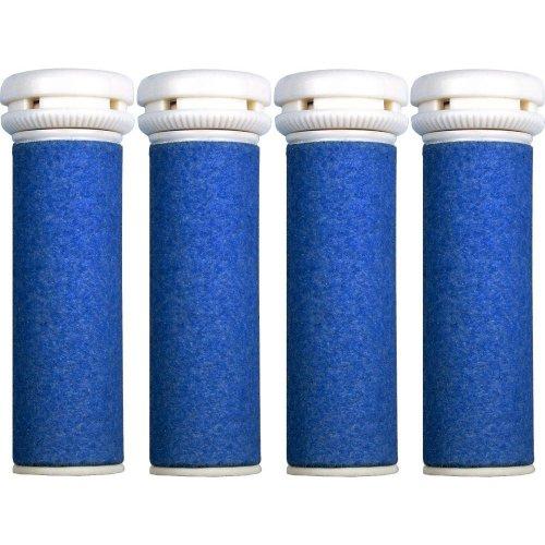 4 x Extra Coarse Blue Micro Mineral Replacement Rollers Compatible Micro Pedi