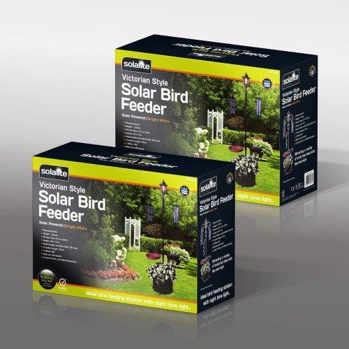 Solalite Solar Bird Feeder Garden Outdoor Wildlife Sun Decoration