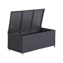 Outsunny Rattan Storage Cabinet Cushion Box Chest Outdoor Patio Furniture Coffee