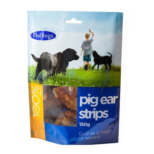 Hollings  Pig Ear Strips For Dogs 150g x 8