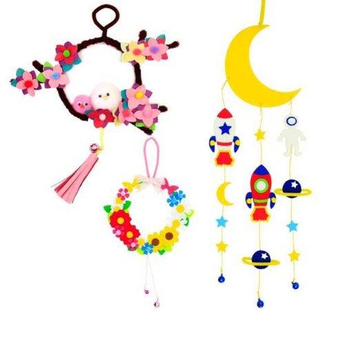 Beatiful DIY Dream Catcher Craft Kit Nice Children Gifts Can Make 3 PCS