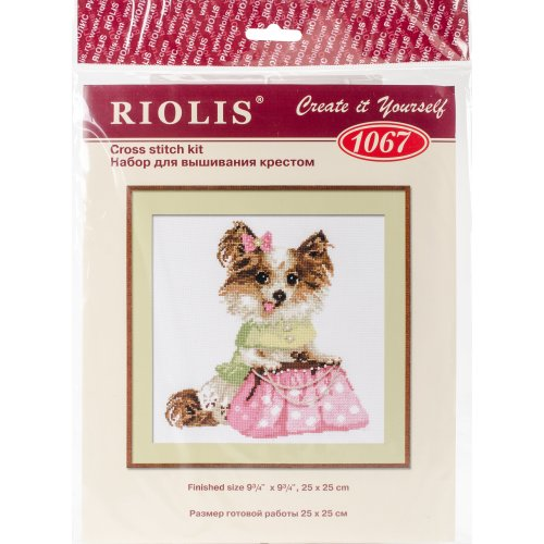 """Chihuahua Counted Cross Stitch Kit-9.75""""X9.75"""" 14 Count"""