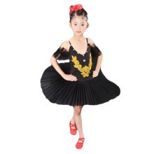 Toddler Ballet Dress/Sling Ballet Black Skirt/Swan Lake Costumes