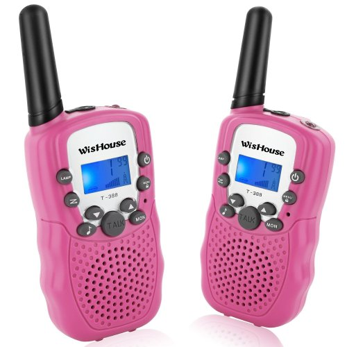 WisHouse Walkie Talkies Mini 8 Channels PMR446MHz Girls Kids Toys Gifts Two Way Radio Walky Talky with Long Distance Range Walky Talky for Hiking...