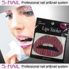 Lip Tattoo 2 In Packet Red-black Lines