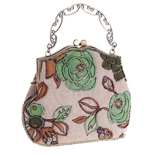 Women's Vintage Style Clutch Evening Bag Elegant  Luxurious Handbag Purse-Banquet-Cocktail Party,H