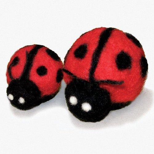 D72-73928 - Dimensions Needle Felting - Round & Wooly: Ladybugs