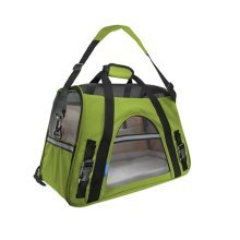 Pet Carrier Soft Sided Travel Bag for Small dogs & cats- Airline Approved? Grass green #2