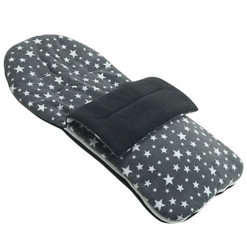 Fleece Footmuff Compatible With Hauck Stroller Buggy Pram - Grey Star