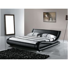 King Size - 5 ft 2 inch - Leather Bed 160x200 cm - incl. stable slatted frame - AVIGNON