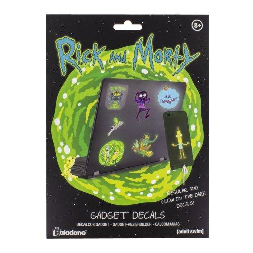 Rick & Morty Gadget Decals Stickers Glow In Dark Waterproof Reusable