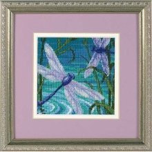 D07208 - Dimensions Mini Needlepoint - Dragonfly Pair