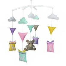 Creative Handmade Baby Crib Mobile, Colorful Music Bed Bell, Hanging Toy