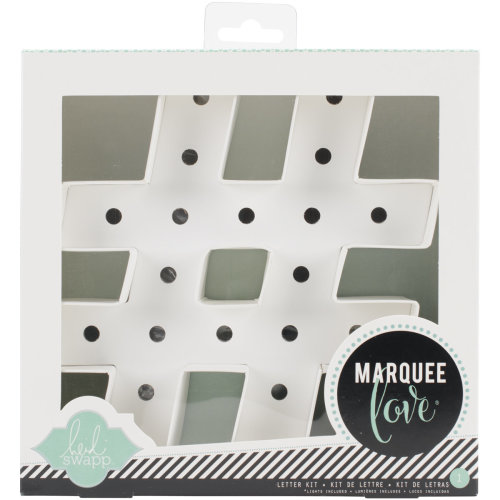 """Heidi Swapp Marquee Love Letters, Numbers & Shapes 8.5""""-Hashtag"""
