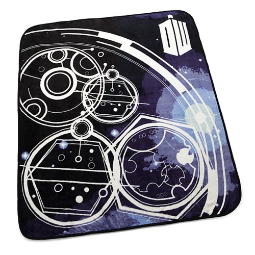 Doctor Who Gallifreyan Symbols Blanket Throw