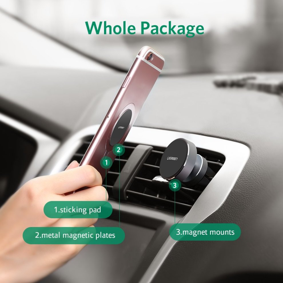 ... UGREEN Magnet Phone Holder for Car Vent, Easy Mount Car Phone Stand - 7. >