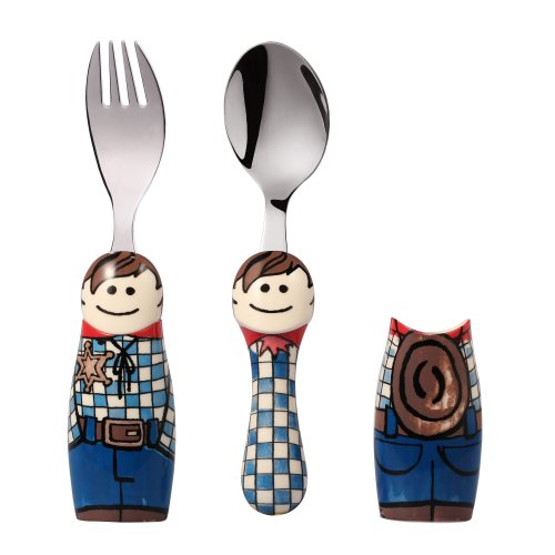 Eat4Fun Duos Cowboy Children's Cutlery Set