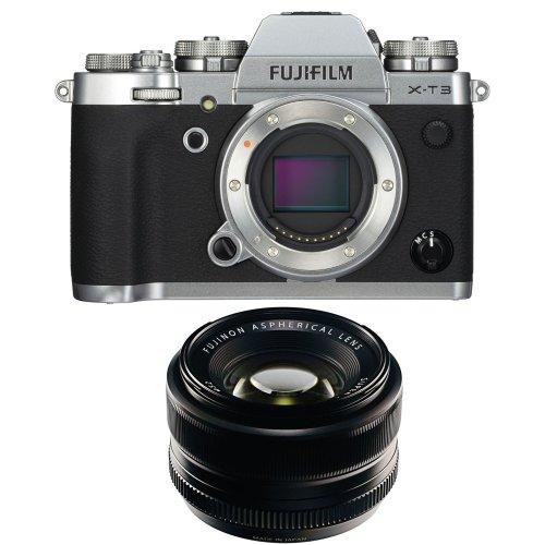 FUJI X-T3 Silver + XF 35MM F1.4 R Black