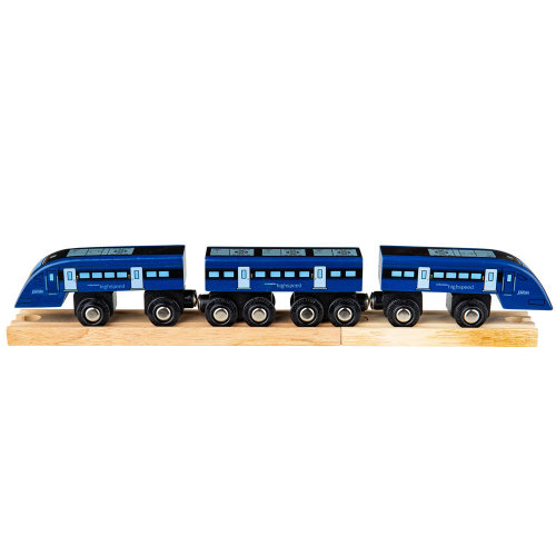 Bigjigs Rail High Speed One Train - Other Major Rail Brands are Compatible