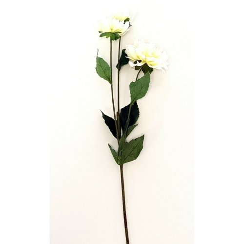Artificial White Dahlia Spray - 77cm Tall - Faux Flowers