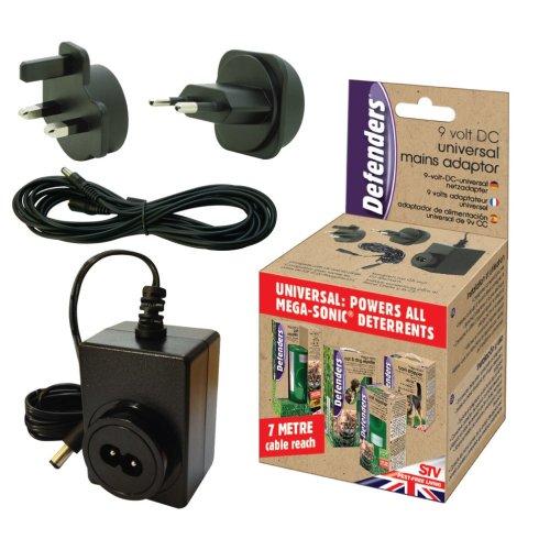 Universal Sonic Repeller Mains Adaptor - Cat 9v Stv612 Dog Plug Defenders Pest -  mains adaptor cat universal repeller 9v stv612 dog plug defenders