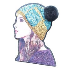 Fashion 3D Beautiful Girl Custom Patches Sew On Applique-02