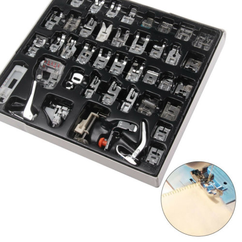 42Pcs Sewing Machine Foot Feet Presser Snap Set Kit For Singer Brother Janome