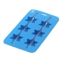 Set of 2 Safe And Soft Silicon Ice Cube Tray, Star Pattern
