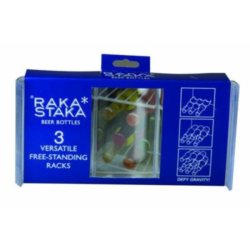 Raka Staka Set Of 3 Beer Bottles Versatile Racks
