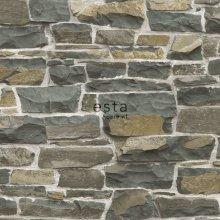 HD non-woven wallpaper brick wall brown