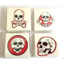 Pirate Skull & Crossbones Tattoo x 12 Party Bags Tattoos Temporary Red Black