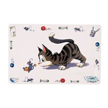 Trixie Comic Cat Print Place Mat, 44 x 28cm - Mat 28cm Bowl -  trixie mat cat comic place print 44 28 cm bowl