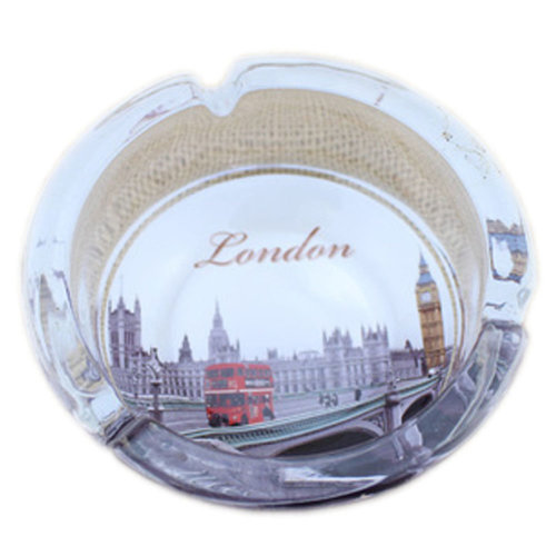 [London Scenery G]Creative Gifts Men's British Style Crystal Glass Ashtray