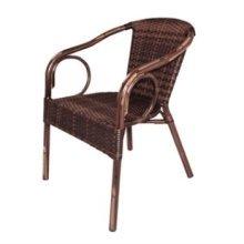 Hila Wicker Armchair - Brown